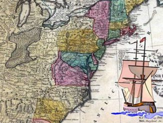 Karte der 13 Kolonien