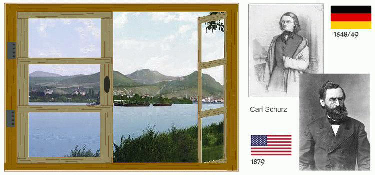 Rheinische Auswanderer Carl Schurz
