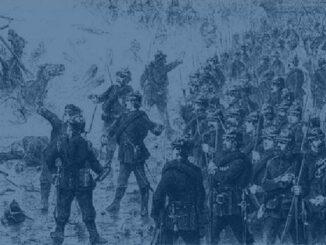Eine Schlacht im Deutschen Krieg