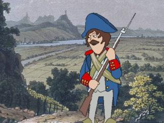 Französischer Soldat am Rhein