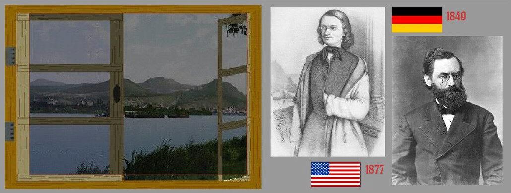 Carl Schurz beim Abschied von Bonn und später